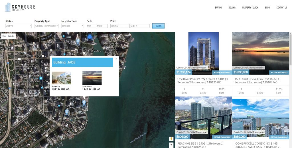 Real Estate Map Search Website